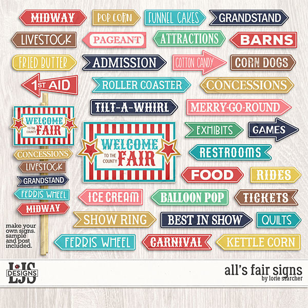 All's Fair Signs Digital Art - Digital Scrapbooking Kits