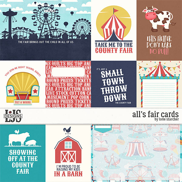 All's Fair Cards Digital Art - Digital Scrapbooking Kits