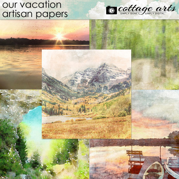Our Vacation Artisan Papers Digital Art - Digital Scrapbooking Kits