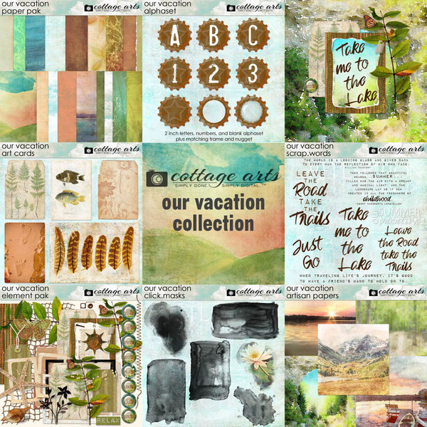Our Vacation Collection Digital Art - Digital Scrapbooking Kits