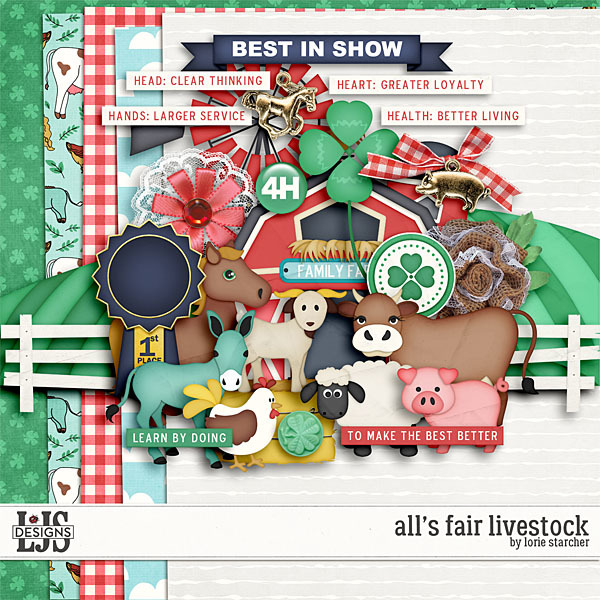 All's Fair Livestock Digital Art - Digital Scrapbooking Kits