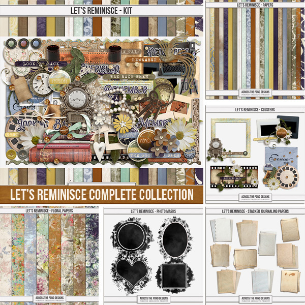 Let's Reminisce Complete Collection Digital Art - Digital Scrapbooking Kits