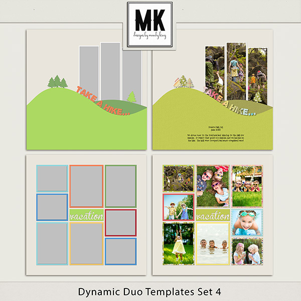 Dynamic Duo Templates Set 4 Digital Art - Digital Scrapbooking Kits