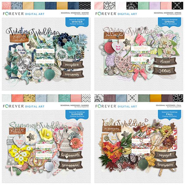 Seasonal Weddings - Bundle Digital Art - Digital Scrapbooking Kits