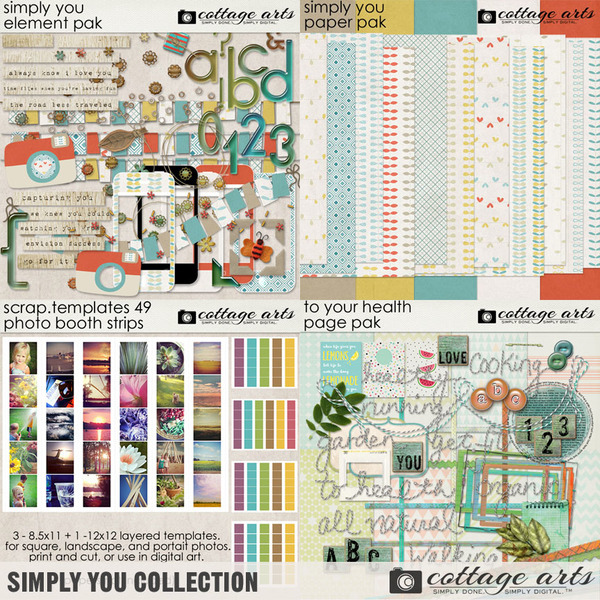 Simply You Collection Digital Art - Digital Scrapbooking Kits