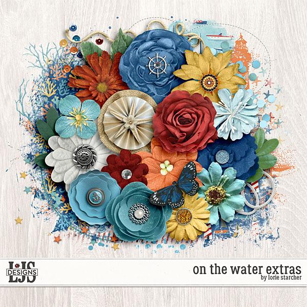 On The Water - Extras Digital Art - Digital Scrapbooking Kits