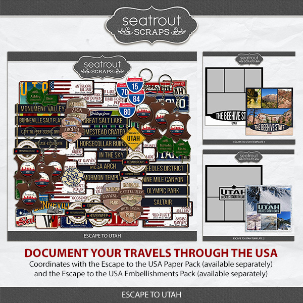 Escape to Utah Digital Art - Digital Scrapbooking Kits