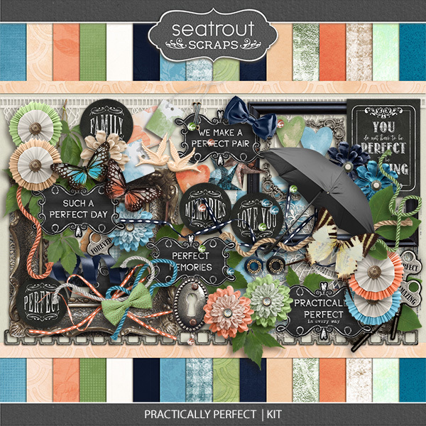 Practically Perfect Kit Digital Art - Digital Scrapbooking Kits
