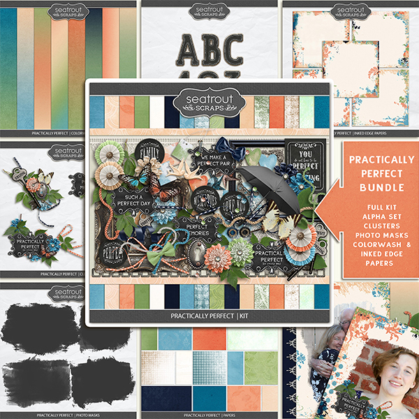 Practically Perfect Bundle Digital Art - Digital Scrapbooking Kits