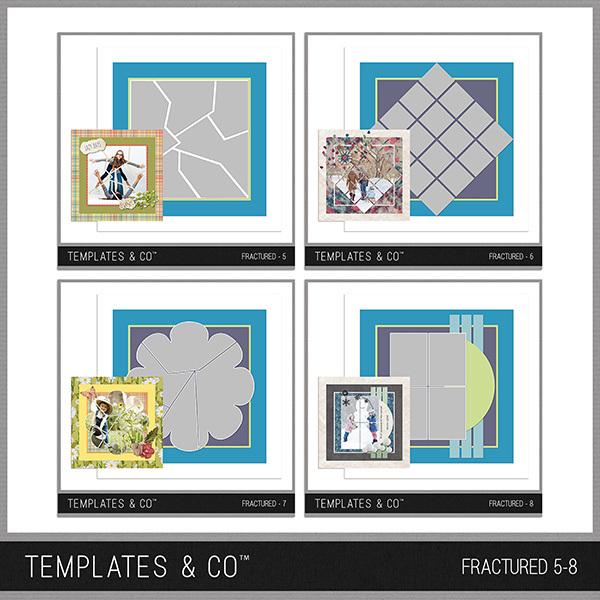 Fractured 5-8 Digital Art - Digital Scrapbooking Kits