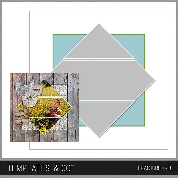 Fractured - 3 Digital Art - Digital Scrapbooking Kits