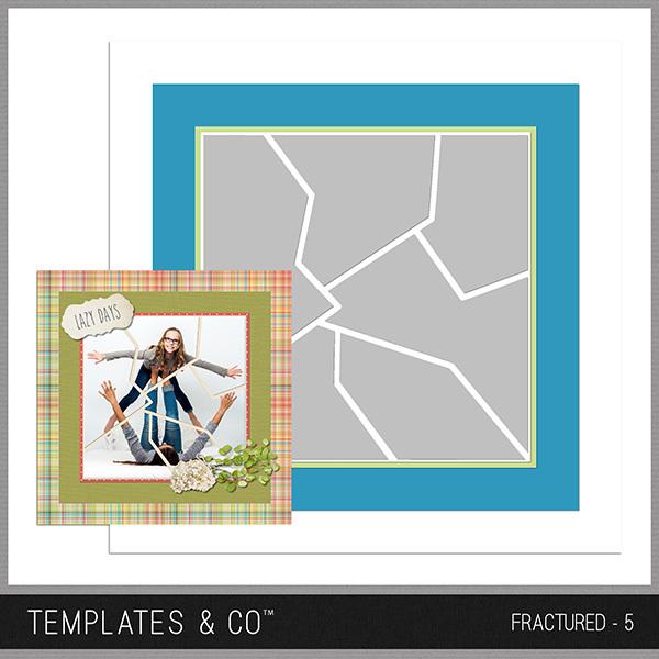Fractured - 5 Digital Art - Digital Scrapbooking Kits
