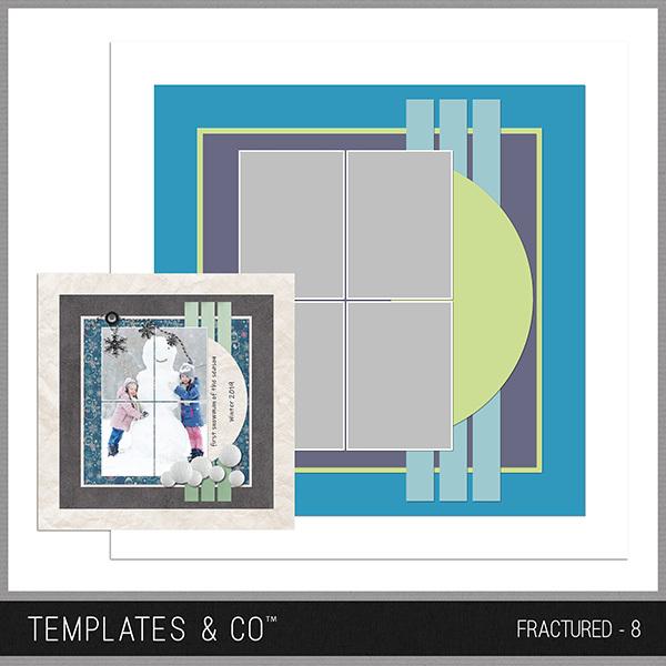 Fractured - 8 Digital Art - Digital Scrapbooking Kits