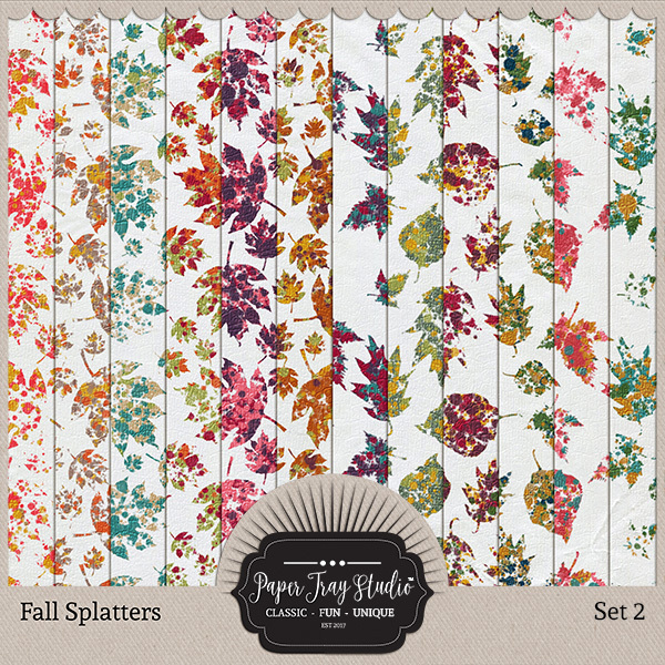Fall Splatters Set 2 Digital Art - Digital Scrapbooking Kits