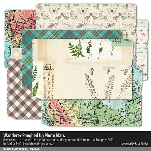 Wanderer Roughed Up Photo Mats Digital Art - Digital Scrapbooking Kits