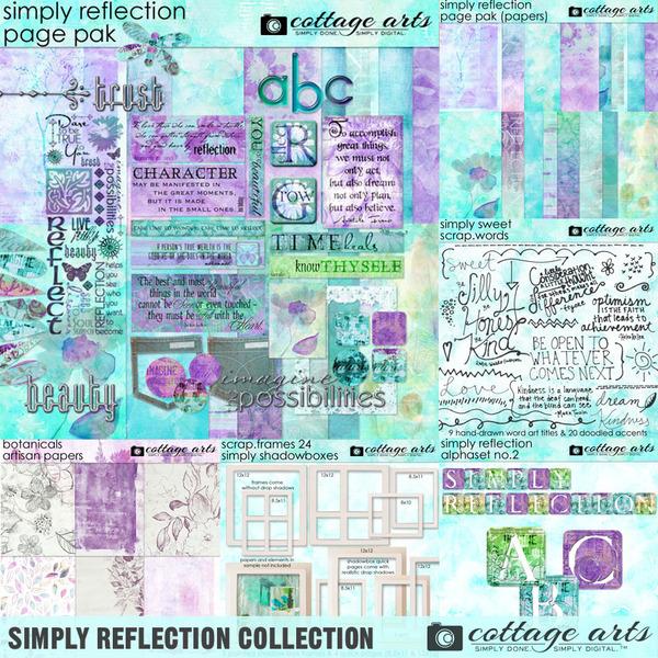 Simply Reflection Collection Digital Art - Digital Scrapbooking Kits