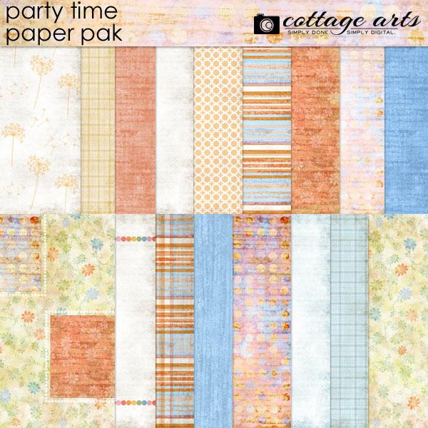 Party Time Paper Pak Digital Art - Digital Scrapbooking Kits