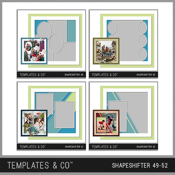Shapeshifter 49-52 Digital Art - Digital Scrapbooking Kits
