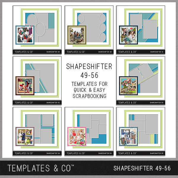 Shapeshifter 49-56 Digital Art - Digital Scrapbooking Kits