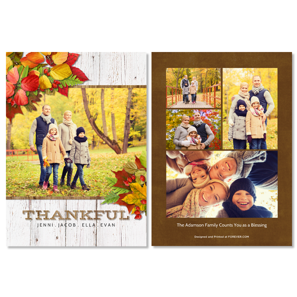 Simply Thankful Card Card