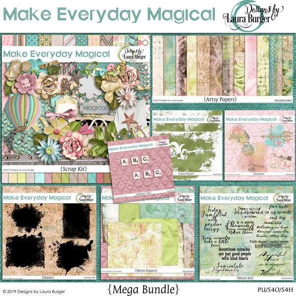 Make Every Day Magical Mega Bundle Digital Art - Digital Scrapbooking Kits
