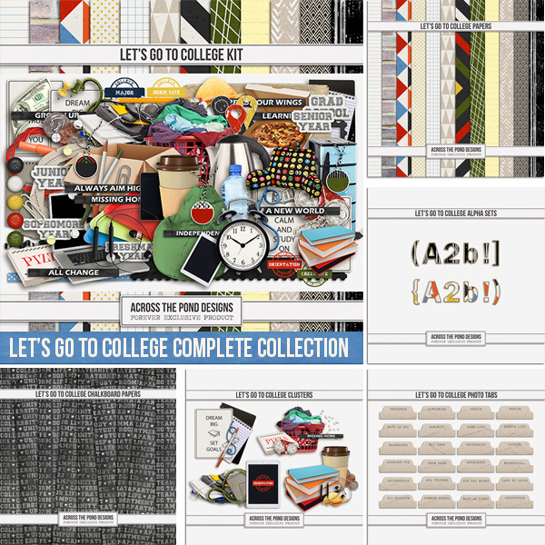 Let's Go To College Complete Collection Digital Art - Digital Scrapbooking Kits