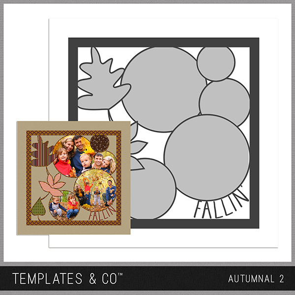 Autumnal 2 Digital Art - Digital Scrapbooking Kits