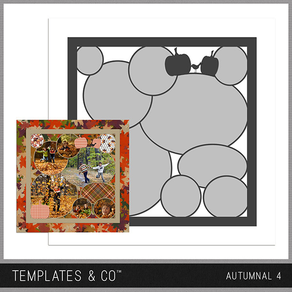 Autumnal 4 Digital Art - Digital Scrapbooking Kits