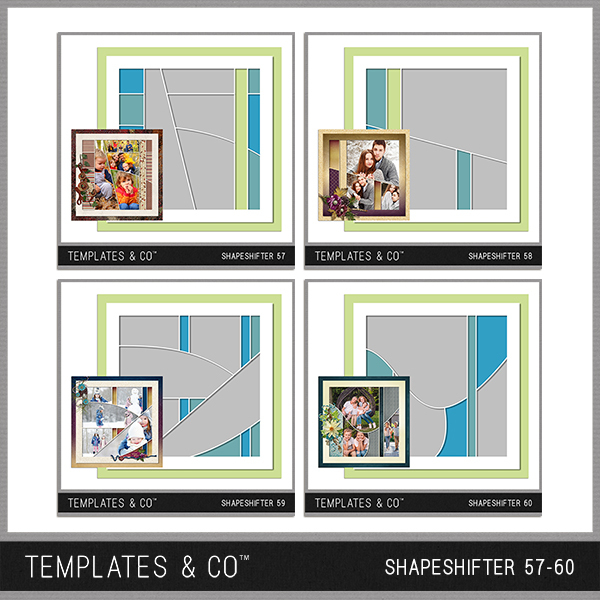 Shapeshifter 57-60 Digital Art - Digital Scrapbooking Kits