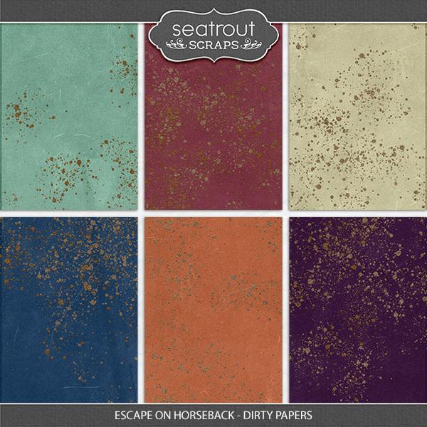 Escape on Horseback - Dirty Papers Digital Art - Digital Scrapbooking Kits