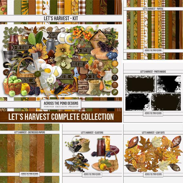 Let's Harvest Complete Collection Digital Art - Digital Scrapbooking Kits
