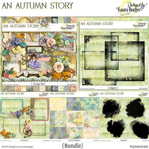 An Autumn Story Bundle Digital Art - Digital Scrapbooking Kits