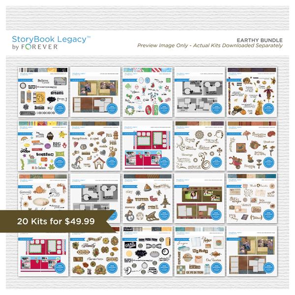 Earthy StoryBook Legacy™ Bundle Digital Art - Digital Scrapbooking Kits