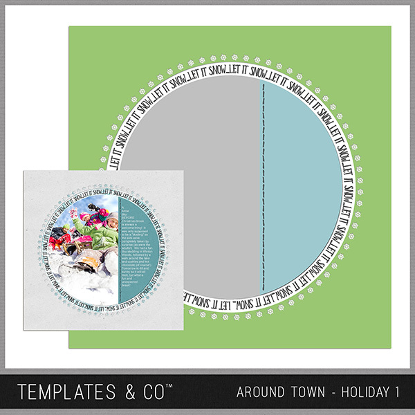 Around Town - Holiday 1 Digital Art - Digital Scrapbooking Kits