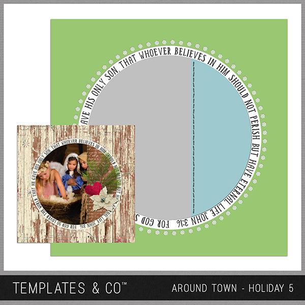 Around Town - Holiday 5 Digital Art - Digital Scrapbooking Kits
