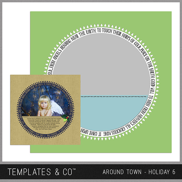 Around Town - Holiday 6 Digital Art - Digital Scrapbooking Kits
