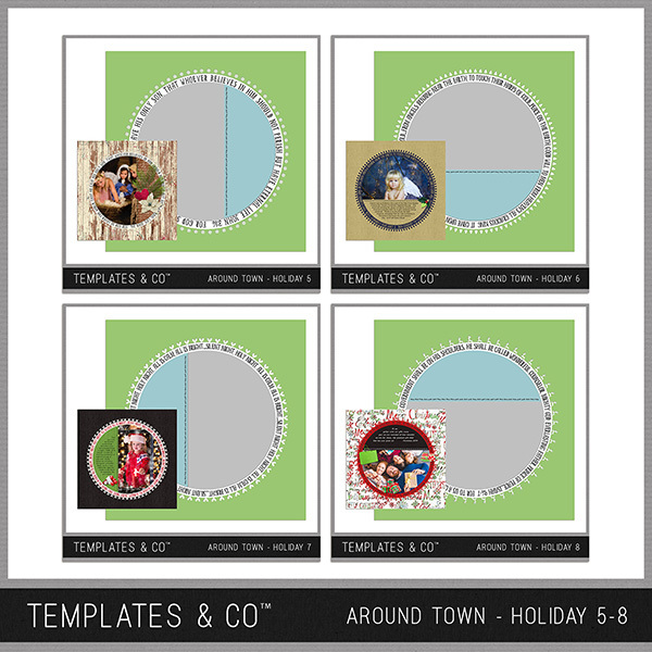 Around Town - Holiday 5-8 Digital Art - Digital Scrapbooking Kits