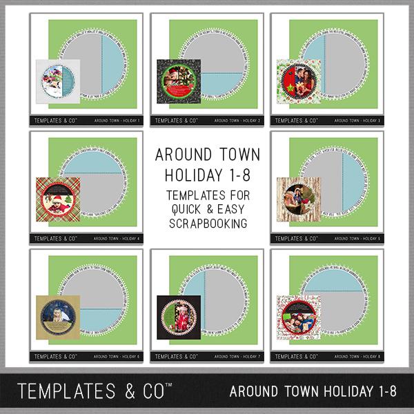 Around Town - Holiday 1-8 Digital Art - Digital Scrapbooking Kits