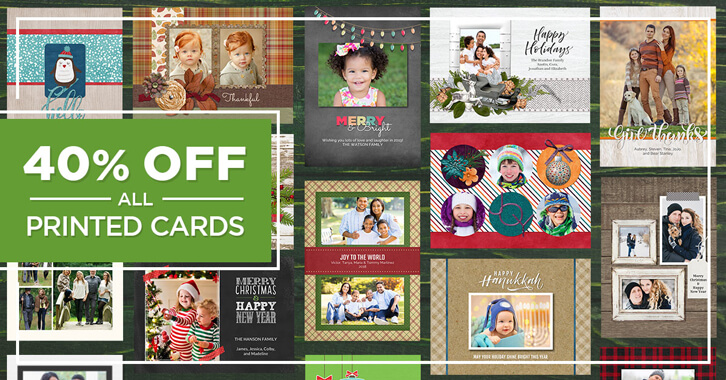 Take 40% OFF all Printed Cards, including new FOREVER Print Cards!