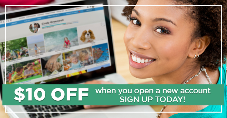 $10 off when you open a new account!