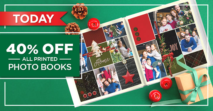 It's not too late! Save 40% on all Photo Books!