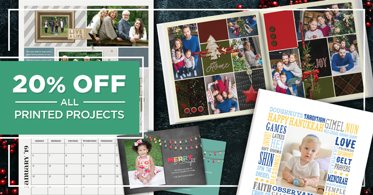Save 20% on all Printed Projects!