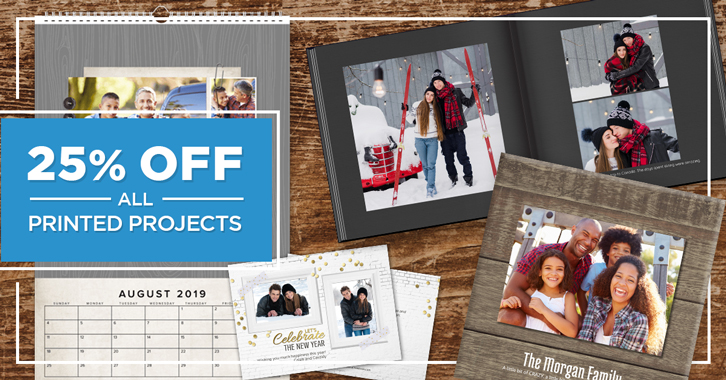 Save 25% on all Printed Projects!
