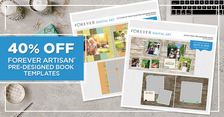 Save 40% on all Pre-Designed Book Templates in Artisan®!