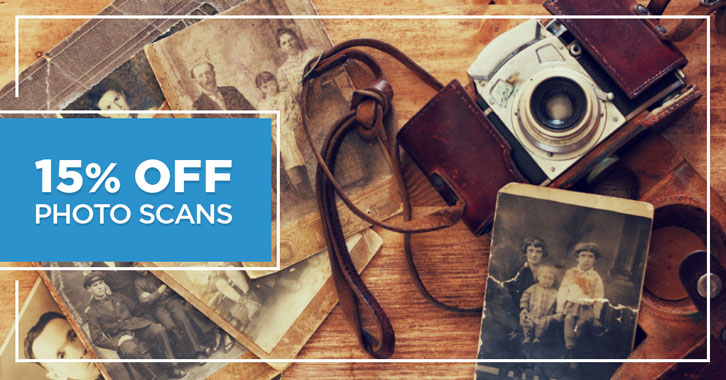 Save 15% on Photo Scans!
