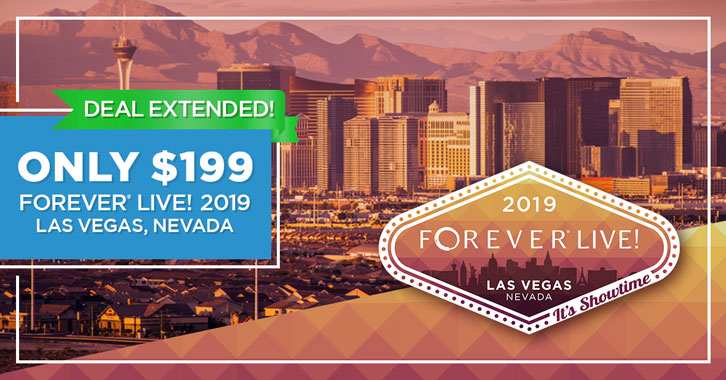 Get your FOREVER Live 2019 Convention ticket for just $199!
