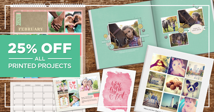 Save 25% on all other Printed Projects!