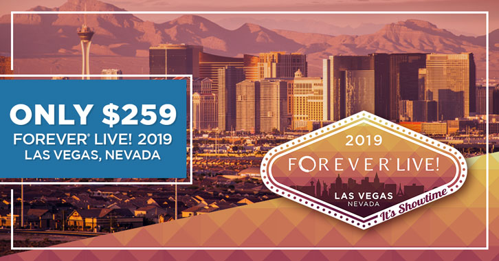 Get your FOREVER Live 2019 Convention ticket for just $259!