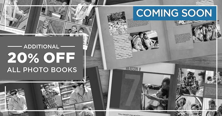 Take an EXTRA 20% OFF Photo Books!