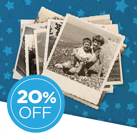 Save 20% on photo scans!